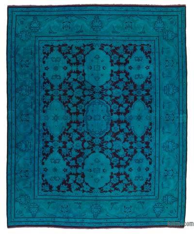 Vintage Boyalı El Dokuma Halı - 242 cm x 304 cm