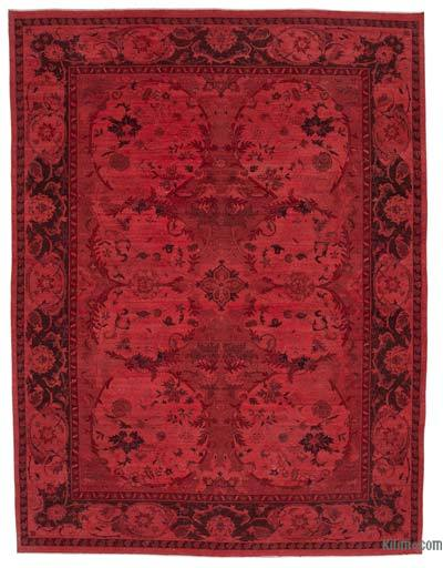 "Over-dyed Vintage Hand-knotted Oriental Rug - 8'11"" x 11'9"" (107 in. x 141 in.)"