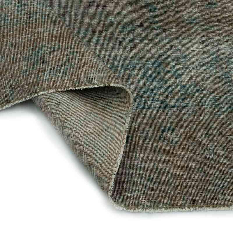 Gri Boyalı El Dokuma Vintage Halı - 275 cm x 386 cm - K0041252
