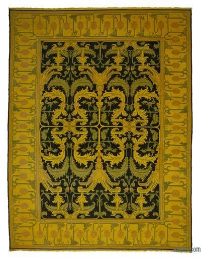 Vintage Boyalı El Dokuma Halı - 310 cm x 412 cm