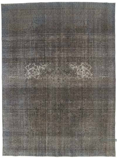 "Grey Over-dyed Vintage Hand-knotted Oriental Rug - 9' 6"" x 12' 10"" (114 in. x 154 in.)"