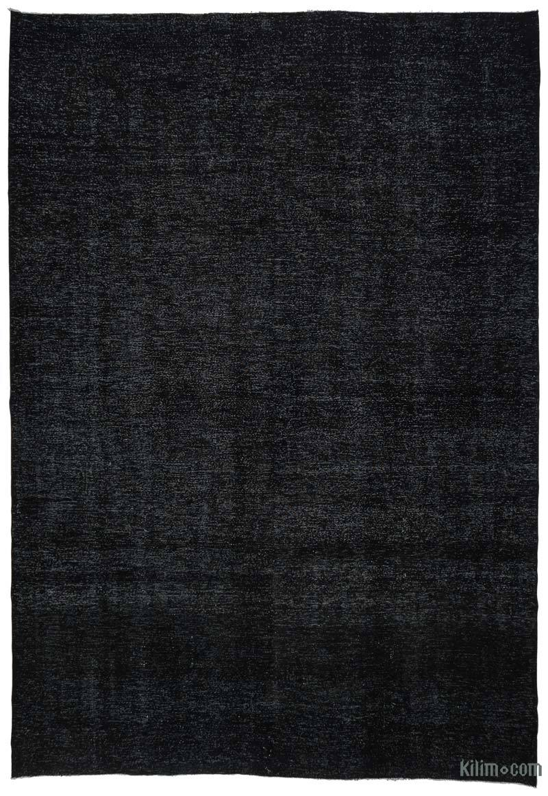 Black Over-dyed Vintage Hand-knotted Oriental Rug - 9' 6# x 14'  (114 in. x 168 in.) - K0041258