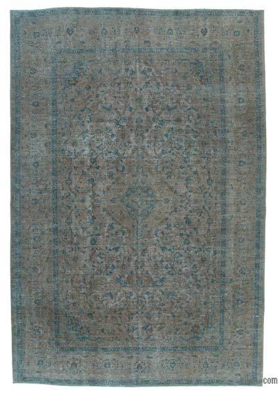 Vintage Boyalı El Dokuma Halı - 240 cm x 360 cm