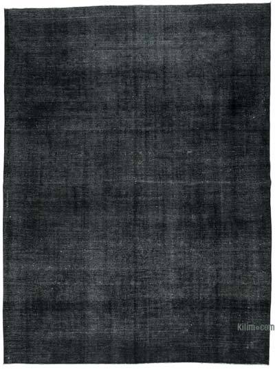"Black Over-dyed Vintage Hand-knotted Oriental Rug - 9' 3"" x 12' 5"" (111 in. x 149 in.)"