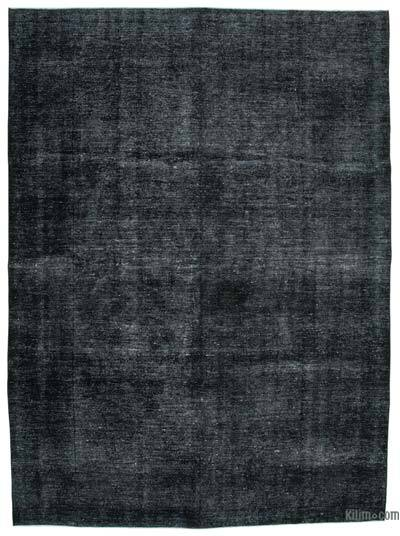 "Black Over-dyed Vintage Hand-knotted Oriental Rug - 9' 7"" x 12' 11"" (115 in. x 155 in.)"
