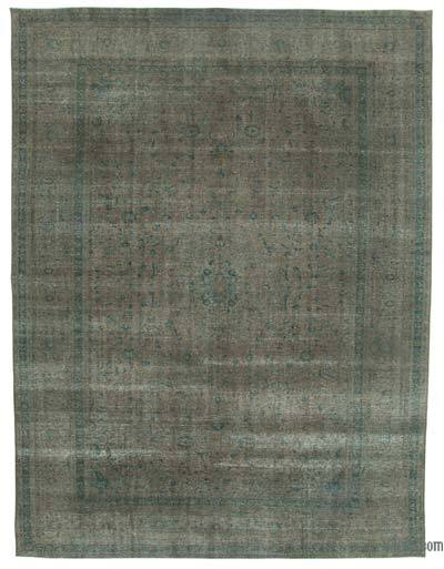 """Over-dyed Vintage Hand-knotted Oriental Rug - 9'10"""" x 12'10"""" (118 in. x 154 in.)"""