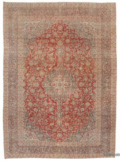 "Vintage Hand-knotted Oriental Rug - 9' 10"" x 13' 7"" (118 in. x 163 in.)"