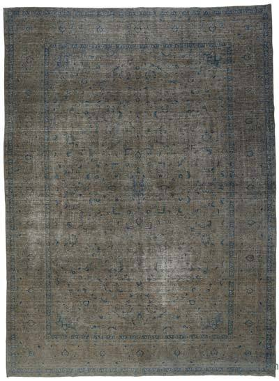 "Over-dyed Vintage Hand-knotted Oriental Rug - 9' 9"" x 13' 5"" (117 in. x 161 in.)"