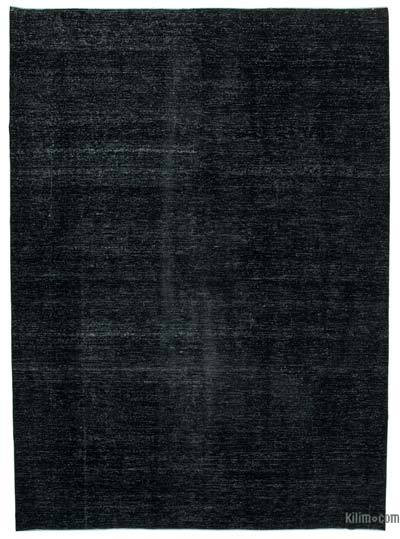 "Black Over-dyed Vintage Hand-knotted Oriental Rug - 9' 7"" x 13' 4"" (115 in. x 160 in.)"