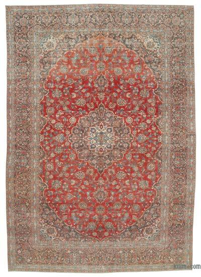 "Vintage Hand-knotted Oriental Rug - 9' 10"" x 14'  (118 in. x 168 in.)"