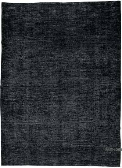 "Black Over-dyed Vintage Hand-knotted Oriental Rug - 9' 5"" x 12' 11"" (113 in. x 155 in.)"