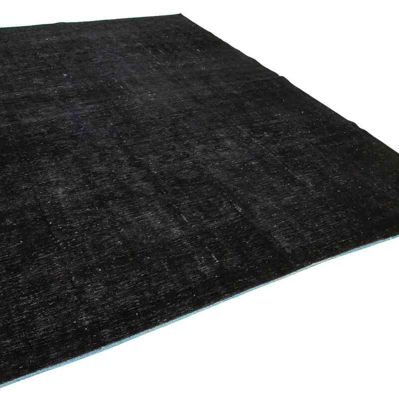 Siyah Boyalı El Dokuma Vintage Halı - K0041295