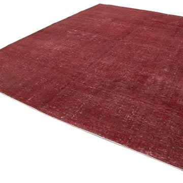 """Red Over-dyed Vintage Hand-Knotted Oriental Rug - 9' 8"""" x 12' 6"""" (116 in. x 150 in.) - K0041299"""