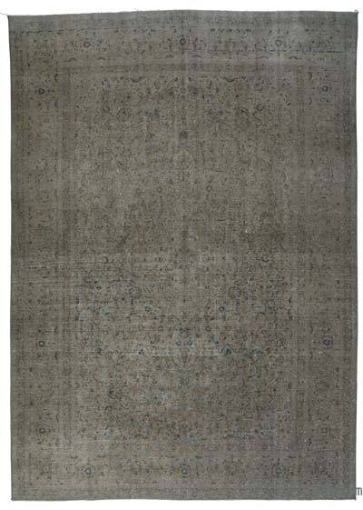 """Over-dyed Vintage Hand-knotted Oriental Rug - 8' 9"""" x 12' 6"""" (105 in. x 150 in.)"""