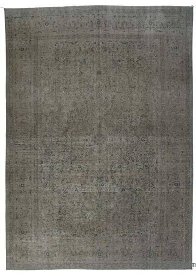 Vintage Boyalı El Dokuma Halı - 266 cm x 380 cm