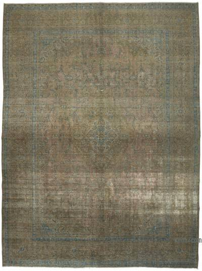 "Over-dyed Vintage Hand-knotted Oriental Rug - 9' 9"" x 13' 4"" (117 in. x 160 in.)"