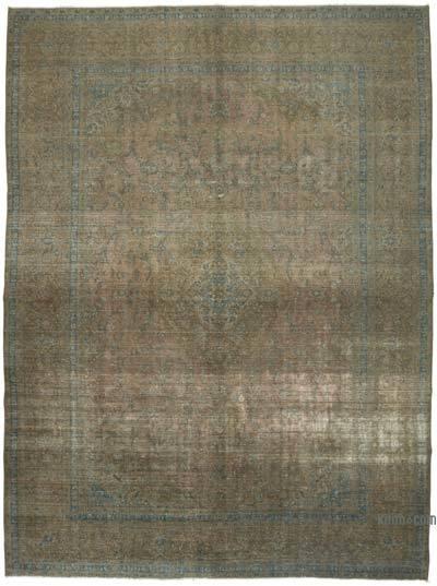Vintage Boyalı El Dokuma Halı - 296 cm x 406 cm