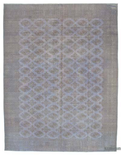 "Grey Over-dyed Vintage Hand-knotted Oriental Rug - 9' 7"" x 12' 3"" (115 in. x 147 in.)"
