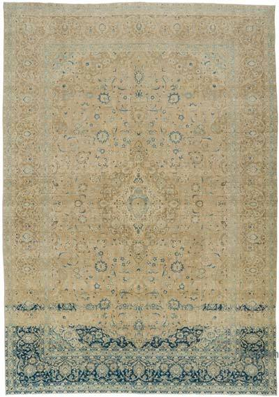 "Over-dyed Vintage Hand-knotted Oriental Rug - 9'8"" x 13'9"" (116 in. x 165 in.)"
