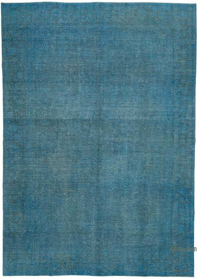 """Blue Over-dyed Vintage Hand-Knotted Oriental Rug - 8' 10"""" x 12' 10"""" (106 in. x 154 in.)"""