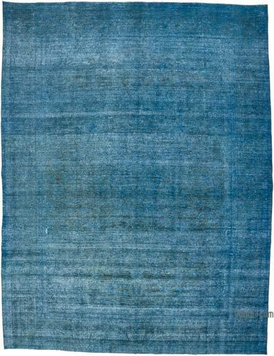 Azul Alfombra Turca Vintage Sobre-teñida  - 290 cm x 385 cm