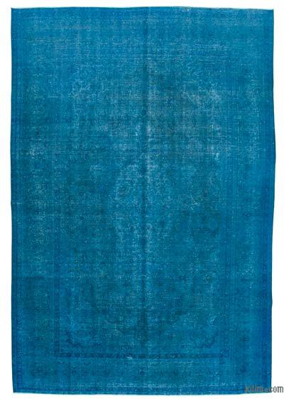 """Blue Over-dyed Vintage Rug - 8' 8"""" x 12' 7"""" (104 in. x 151 in.)"""