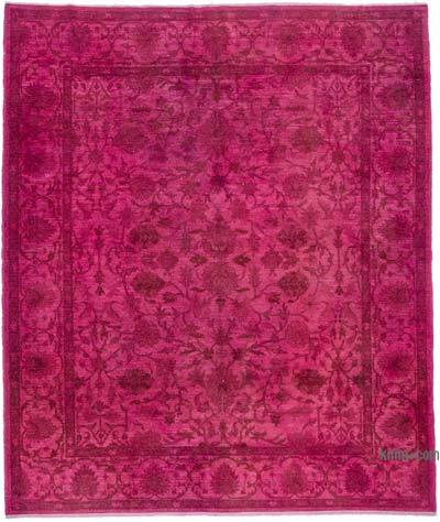 """Overdyed Vintage Hand-knotted Oriental Rug - 8'3"""" x 9'11"""" (99 in. x 119 in.)"""