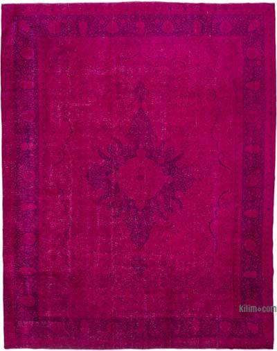 """Over-dyed Vintage Hand-knotted Oriental Rug - 10'4"""" x 13'3"""" (124 in. x 159 in.)"""