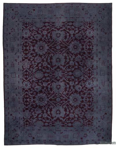 """Over-dyed Vintage Hand-knotted Oriental Rug - 9'2"""" x 11'8"""" (110 in. x 140 in.)"""