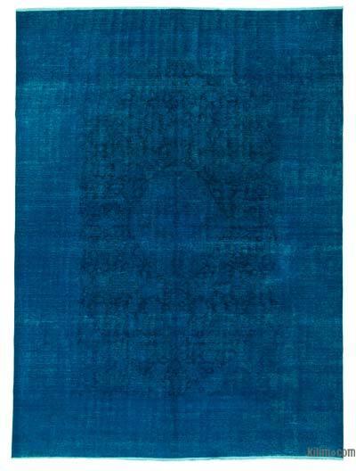 Vintage Boyalı El Dokuma Halı - 288 cm x 390 cm