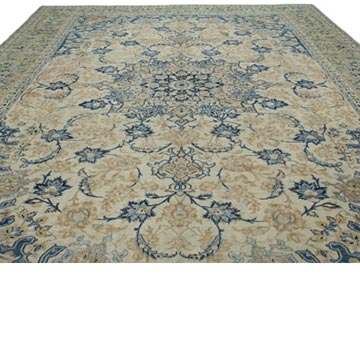 """Vintage Hand-Knotted Oriental Rug - 10' 1"""" x 15' 7"""" (121 in. x 187 in.) - K0041377"""
