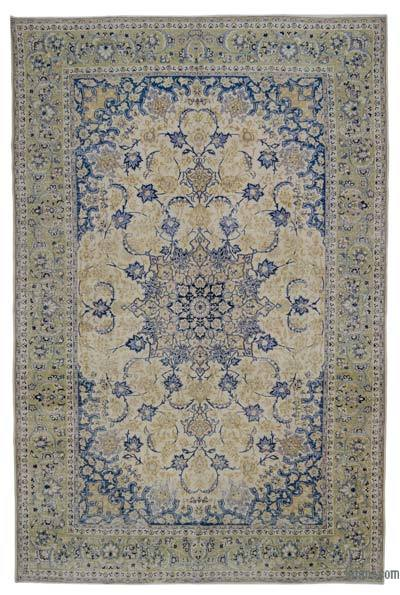 "Vintage Hand-knotted Oriental Rug - 10' 1"" x 15' 7"" (121 in. x 187 in.)"