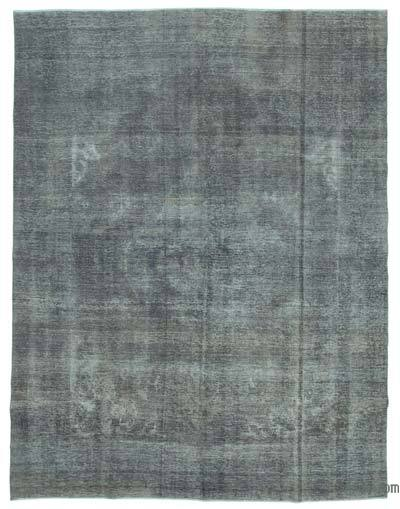 "Grey Over-dyed Vintage Hand-knotted Oriental Rug - 9' 10"" x 12' 11"" (118 in. x 155 in.)"