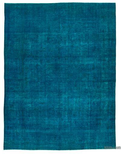 """Over-dyed Vintage Hand-knotted Oriental Rug - 9' 7"""" x 12' 8"""" (115 in. x 152 in.)"""