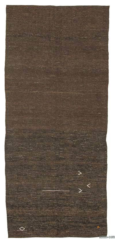 "Brown Vintage Anatolian Kilim Rug - 4' 11"" x 11' 6"" (59 in. x 138 in.)"