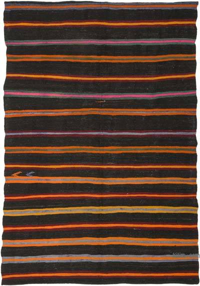 Kahverengi Vintage Anadolu 'Kıl' Kilim - 180 cm x 266 cm