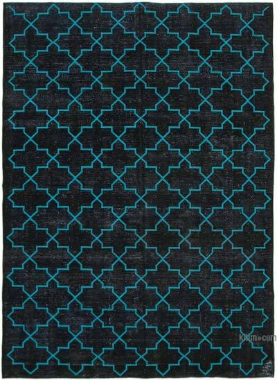 Alfombra Turca bordada sobre teñida vintage - 283 cm x 385 cm