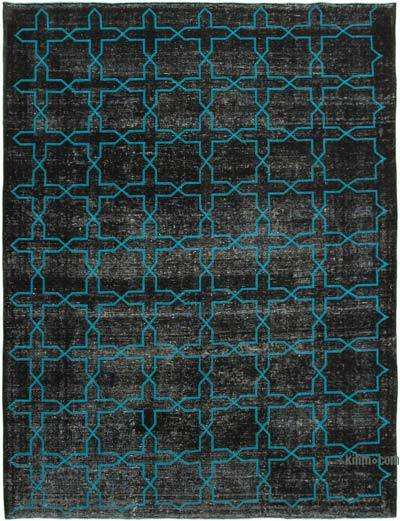 """Embroidered Over-dyed Turkish Vintage Rug - 9'9"""" x 13' (117 in. x 156 in.)"""
