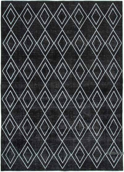 Alfombra Turca bordada sobre teñida vintage - 283 cm x 390 cm