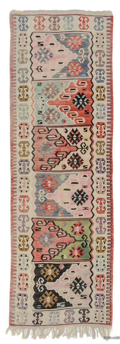 "New Turkish Kilim Runner - 3' 3"" x 9' 9"" (39 in. x 117 in.)"