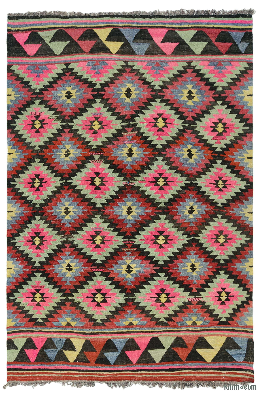 bohemian kilim rug,vintage kilim rug,Anatolian Turkish rug,Kelim rug Turkish kilim rug Turkish Kilim 6/'5x 7/'1ft  kilim Rug