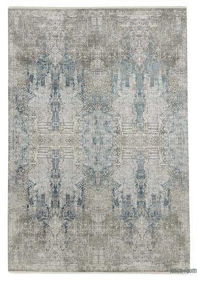 "Abstract Bamboo Silk Area Rug - 6'7"" x 9'6"" (79 in. x 114 in.)"
