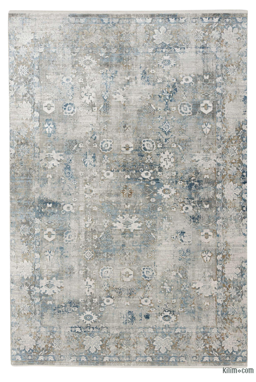 K0043231 Abstract Bamboo Silk Area Rug