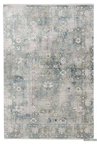 "Abstract Bamboo Silk Area Rug - 6' 7"" x 9' 6"" (79 in. x 114 in.)"