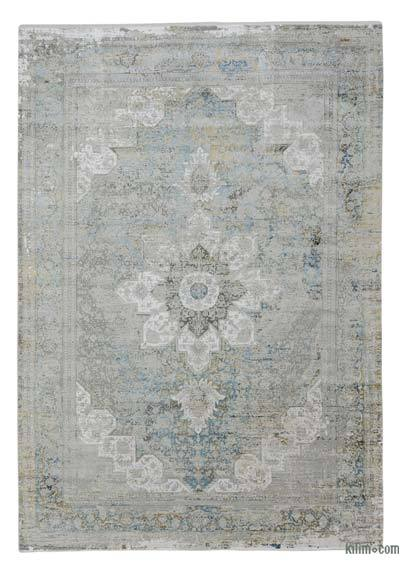 "Abstract Bamboo Silk Area Rug - 7'10"" x 11'2"" (94 in. x 134 in.)"