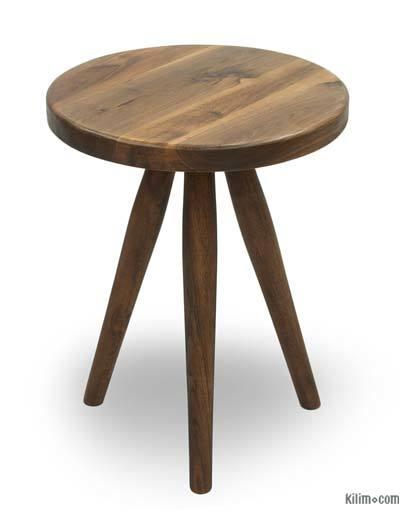 Mid Century Modern Style Walnut Side Table