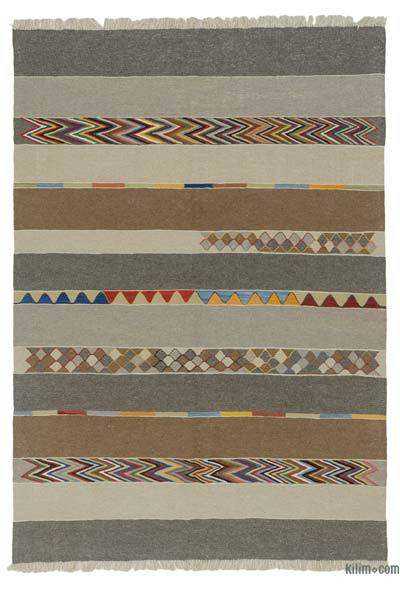 "New Handwoven Turkish Kilim Rug - 5'8"" x 8'2"" (68 in. x 98 in.)"