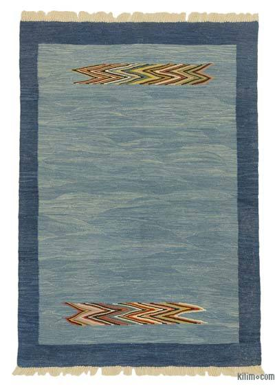 "New Handwoven Turkish Kilim Rug - 4'2"" x 6'1"" (50 in. x 73 in.)"