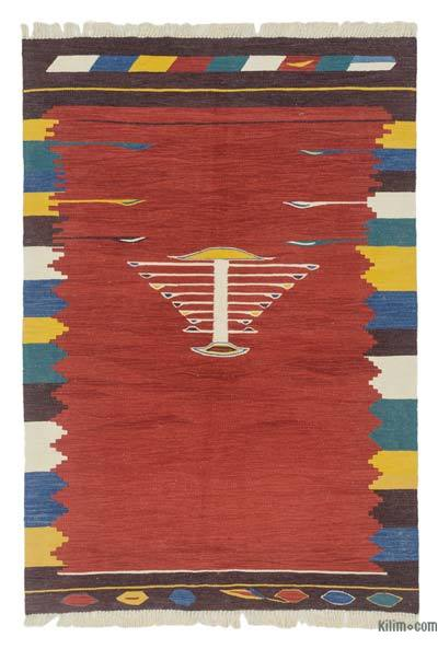 "New Handwoven Turkish Kilim Rug - 4'  x 5' 10"" (48 in. x 70 in.)"