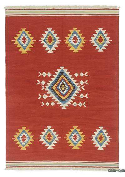 "New Handwoven Turkish Kilim Rug - 5' 11"" x 8' 4"" (71 in. x 100 in.)"